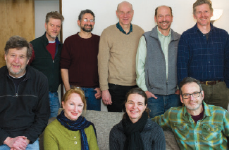 Back row: T Davis, Rob Gurwitt, John Stephens, Mark Travis, Watt Alexander;  Front: Rich Cohen, Donna Mackall, Samantha Candon, John Olszewski.
