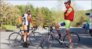 The Wednesday night rides from he Bike Hub are as much a social event giving local riders a chance to catch up with one another as it a chance to get out and ride together.