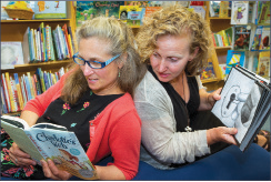 Lisa Cadow (left) and Lisa Christie (right), founders of Book Jam