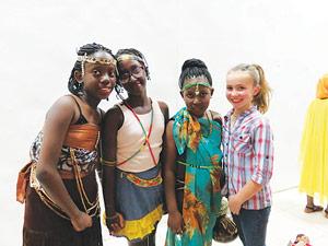 Kate Levy in fashion show in Rwanda