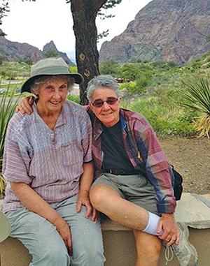 Claudia and Beth at Big Bend National Park in Texas