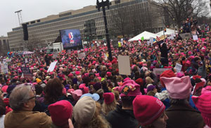 Sea of pink hats