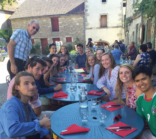 Group lunch at the Chateau Comarin