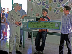 The dedication of the Dr. Dean Biblioteca in Honduras
