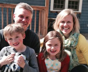 Meet your Neighbor: David Barlow with wife Kate and 8-year-old twins Teddy and Amelia