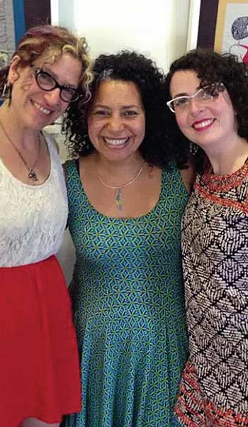 en Berger, Laura Di Piazza, & Rebecca Levy at Levi's exhibition Queering the Line curated by Di Piazza at UVM