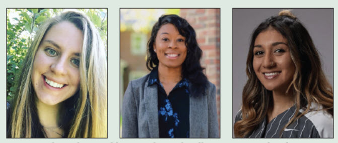 Dartmouth students Abby Drach, Gabrielle Hunter, and Jade Bravo