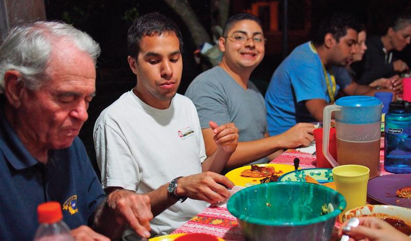 Dean Seibert and ACTS volunteers in Honduras